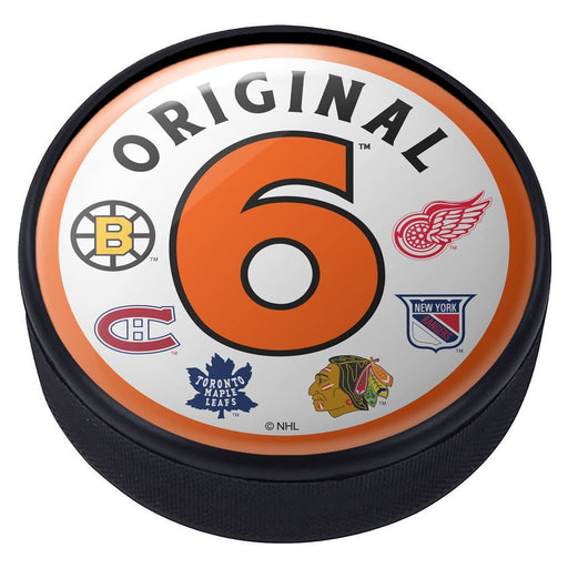 Original Six Domed Round Hockey Puck
