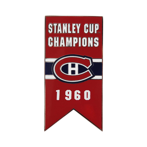 Montreal Canadiens 1960 Stanley Cup Championship Banner Pin