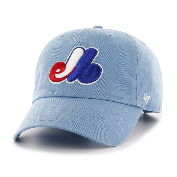 Montreal Expos '47 Light Blue Cooperstown Clean Up Adjustable Hat