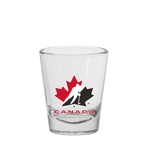 Team Canada Hockey 1.5oz Round Shot Glass