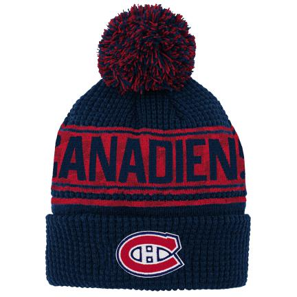 Montreal Canadiens Youth Pattern Jacquard Cuff Knit Pom