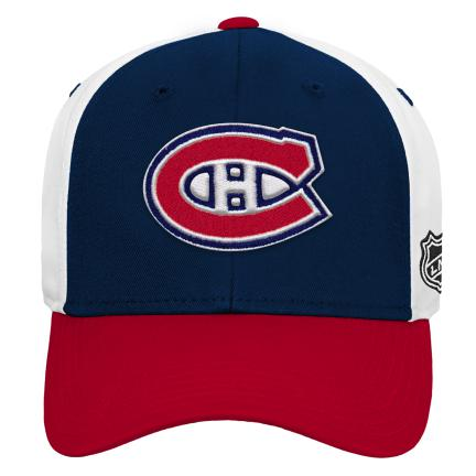 Montreal Canadiens Youth Colorblock Structured Adjustable Hat