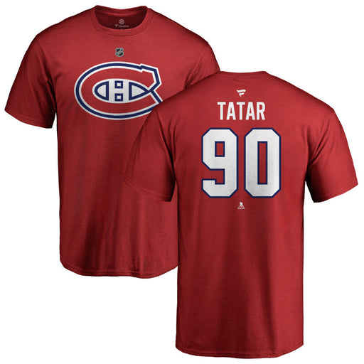 Thomas Tatar Montreal Canadiens Fanatics Red Authentic T-Shirt