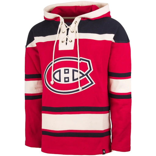 Patrick Roy 33 Montreal Canadiens 47 Red Heavyweight Lacer Hoodie