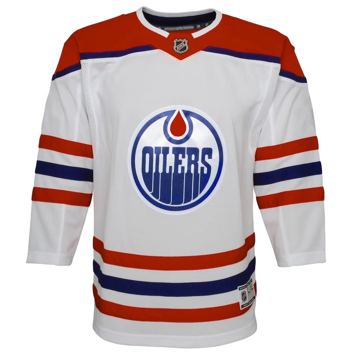 Edmonton Oilers Youth White Special Edition Premier Jersey