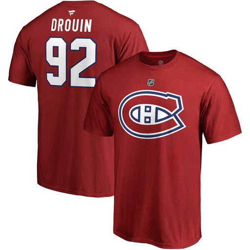 Jonathan Drouin Montreal Canadiens Fanatics Red Authentic T Shirt