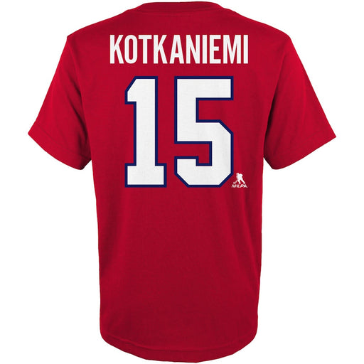 Jesperi Kotkaniemi 15 Montreal Canadiens Youth Red T-shirt