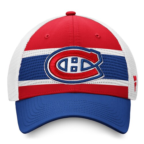 Montreal Canadiens Fanatics Draft 2020 Red Authentic Pro Trucker Adjustable Hat