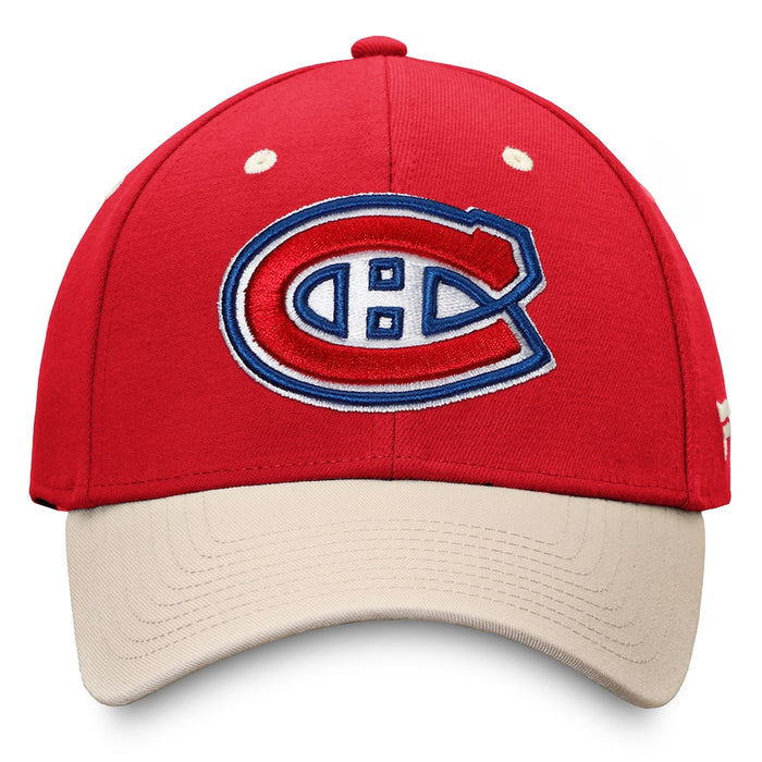 Montreal Canadiens Fanatics Red True Classics Structured Stretch Hat