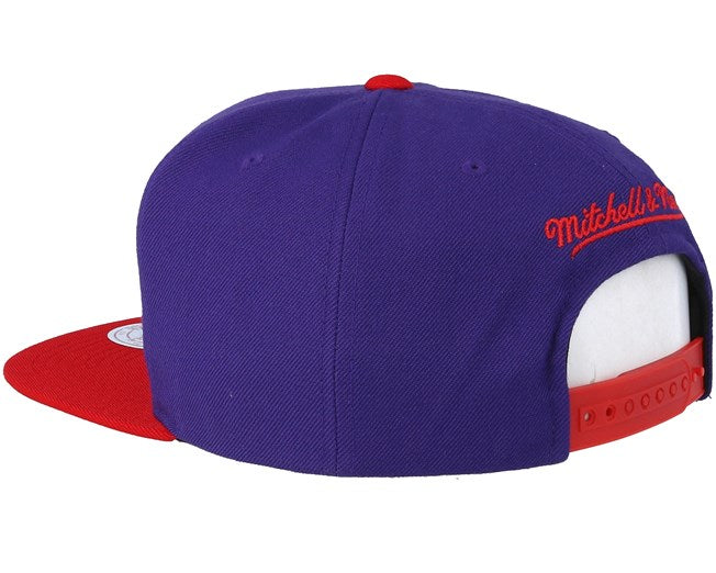 Toronto Raptors Mitchell & Ness Purple Wool Two Tone Adjustable Snapback