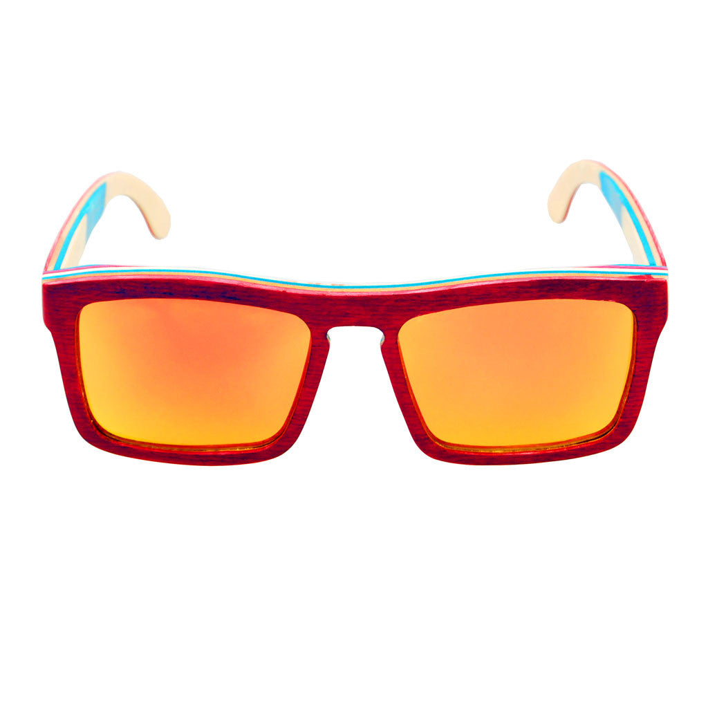 META Red Maple Wooden Sunglasses