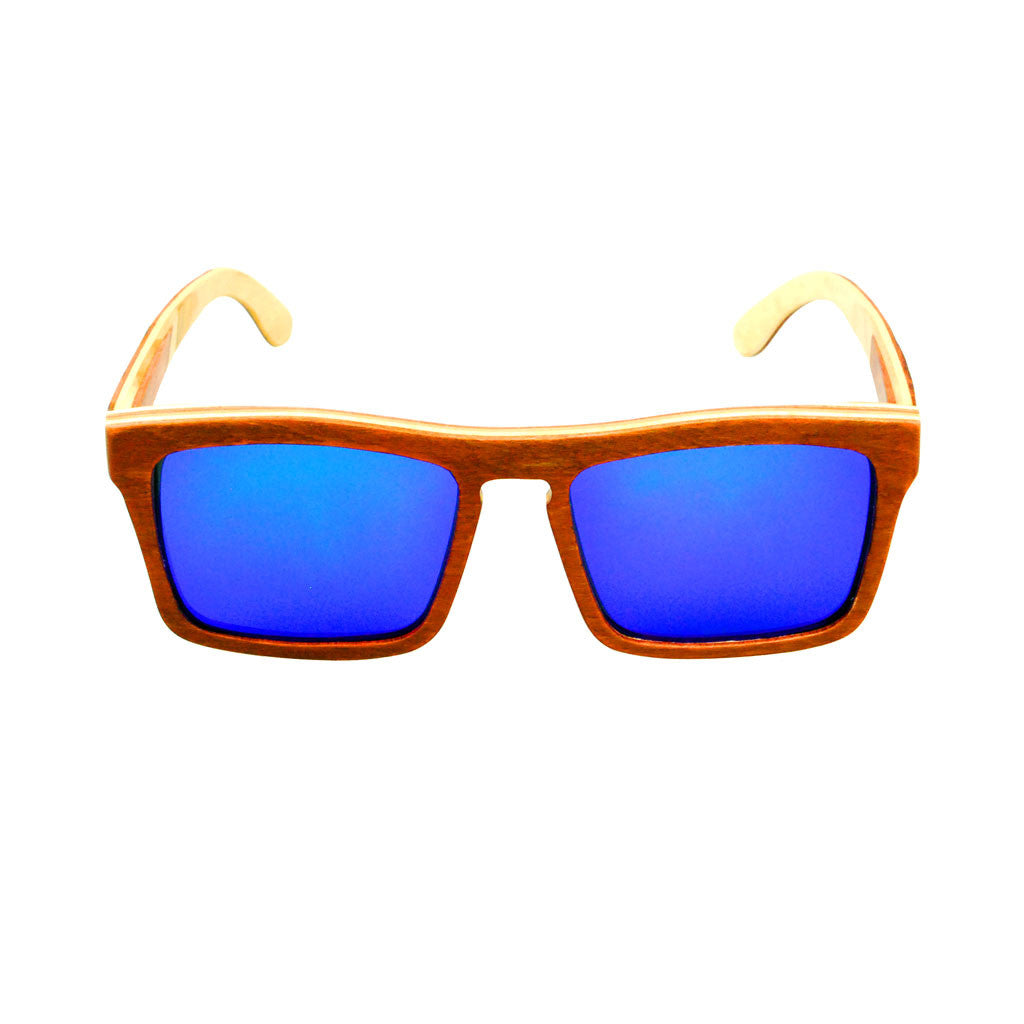 META Brown Maple Wooden Sunglasses