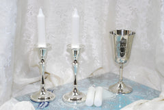 Glass Candle Plate (Shabbat)