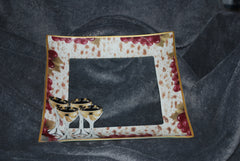 Passover Tray with Grape and Wine Design