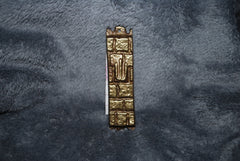 Mezuzah Brass with a Wailing Wall Design
