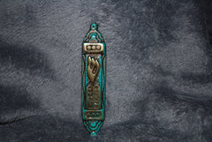 Mezuzah Brass with Patina