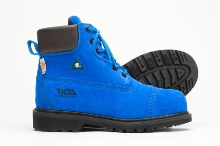 Composite toe safety boots for women - Lapis