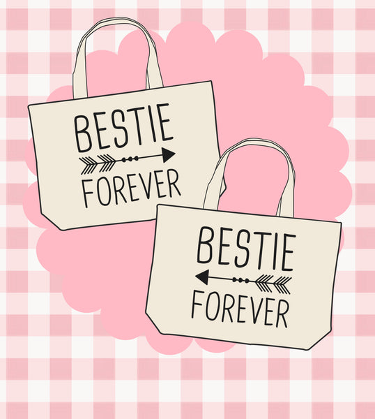 Best Friends Matching Canvas Bags