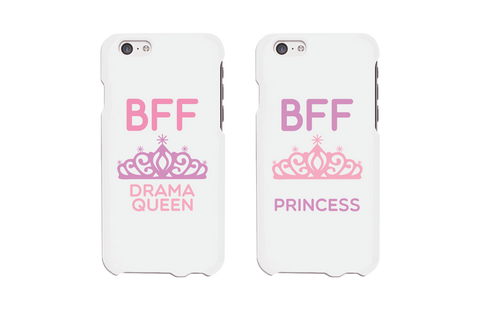 drama queen and princess bff phone cases