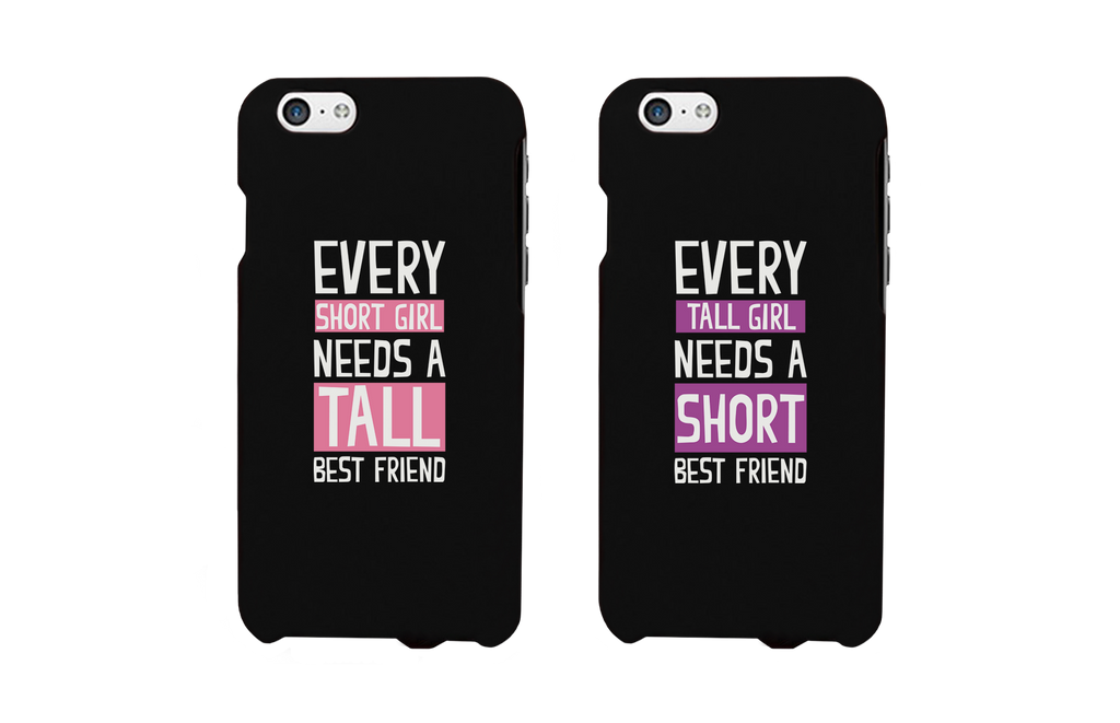 short and tall girls bff matching phone cases