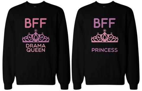drama queen and princess BFF sweaters