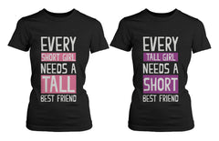 Best Friend Shirts Short and Tall Best Friends BFF Matching T-shirts