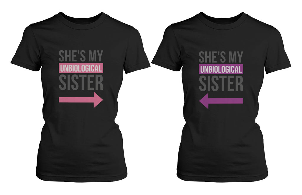 Girl Friendship Best Friends T Shirts Unbiological Sister BFF Matching ...