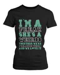 Cute Best Friend T Shirts Freak and Weirdo Funny BFF Matching Shirts