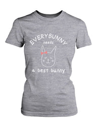 Cute Best Friend T Shirts Everybunny Needs a Best Bunny BFF Matching Shirts