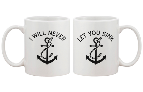I will never let you sink BFF coffee mugs