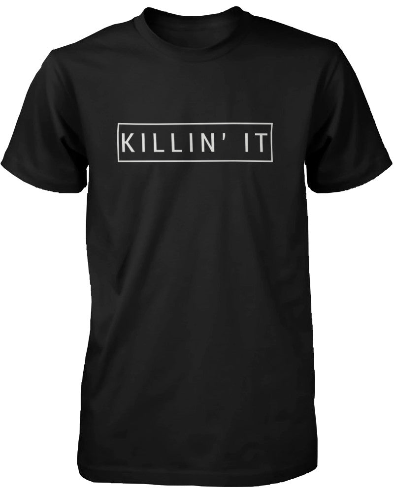 Killin' It Men's Graphic Shirt Trendy Black T-shirt Cute Short Sleeve Tee