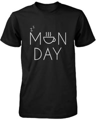Unisex Funny Black Graphic T-Shirt – Monday Graphic Design Coffee Mug