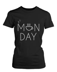 Women's Funny Black Graphic T-Shirt – Monday Graphic Design Coffee Mug