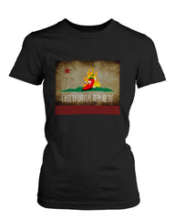 Women's Graphic Black T-Shirt Chilifornia Republic