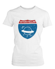 Women's Graphic White T-Shirt Interstellar