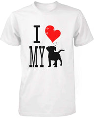 Graphic Statement Women's White T-Shirt I Love My Dog
