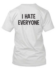 I Hate Everyone Back Print Men's Shirt Graphic T-shirt Short Sleeve Tee
