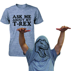 Ask Me About My T-Rex Shirt Funny Flip Up Dinosaur Tee Halloween Unisex T-shirt