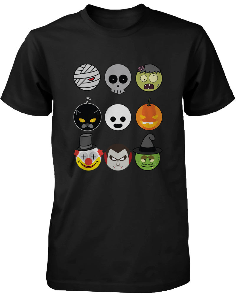 Halloween Monsters Men's Shirt Humorous Graphic Tee for Haunt Night