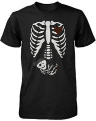 Halloween Pregnant Skeleton Pirate Baby X-Ray Shirt Maternity Themed