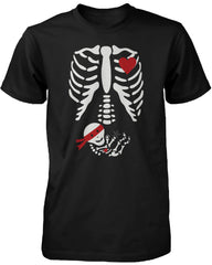 Halloween Pregnant Skeleton Ninja Baby X-Ray Shirt Maternity Themed