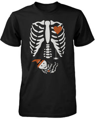 Halloween Pregnant Skeleton Wizard Witch Baby Shirt Maternity Themed