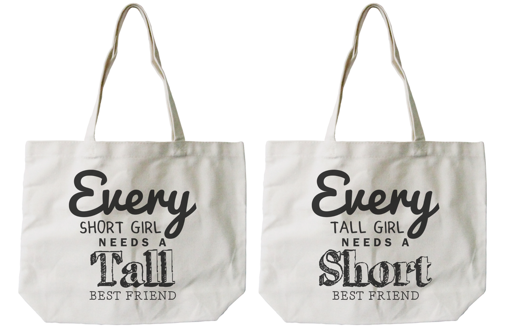 cute canvas bags for tall and short bff