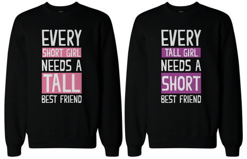 pink purple background bff matching sweatshirts