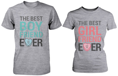 Best Boyfriend and Girlfriend Ever Matching Couple Shirts – Grey Cotton T-shirts