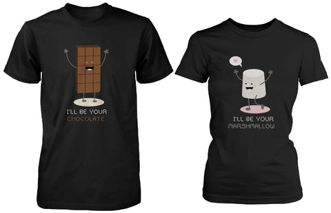 Cute Matching Couple Shirts I'll Be Your Chocolate and Marshmallow