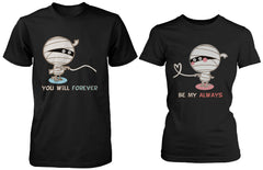 Halloween Couple Shirts Mummy Shirts for Horror Night