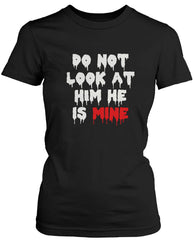 Do Not Look His and Her Matching T-Shirts for Couples Halloween Horror Shirts