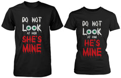 Funny Halloween Horror Night Couple Shirts Do Not Look At Mine