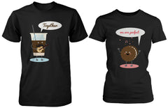 Cute Matching Couple Shirts Ice Coffee and Cookies Gifts for Couples